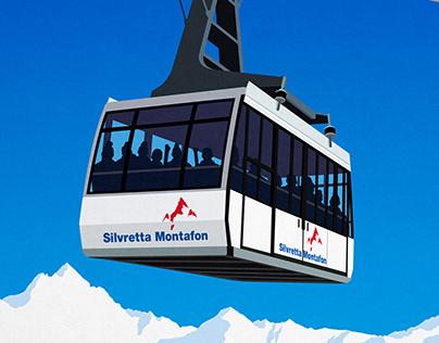 Silvretta Montafon ski poster