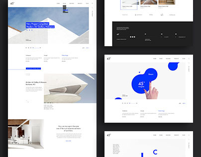 45 degrees - Architecture Studio PSD  | themeforest.net