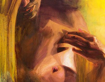 Intimacy oil painting 100x70cm