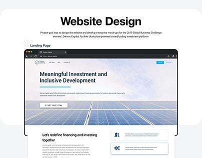 Investor Platform - Website Design