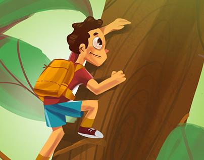 """Book Cover for """"el-Huda"""" school"""