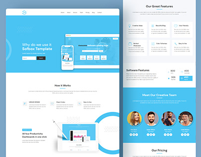Sofbox Classic   Free Software Landing Page HTML5