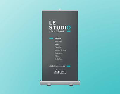 Roll Up Banner pour Le Studio Jeune Coop
