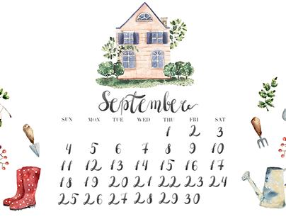 Calendar for September | 2016