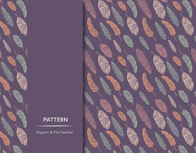 Organic Flat Feather Pattern