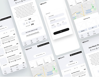 UX Wireframes for Mobile Application