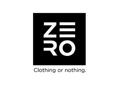 Bicycle clothing brand. ZERO Logotype