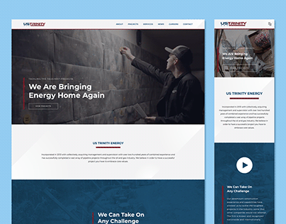US Trinity Homepage Redesign