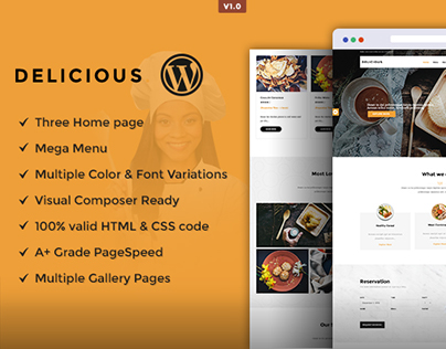 Delicious Responsive WordPress Theme