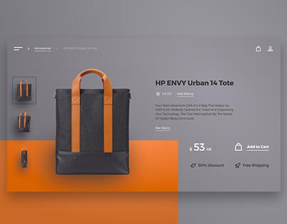 Design Challenge: HP ENVY Urban 14 Tote Page Concept