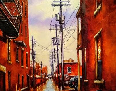 Back Street. Richmond. 2019