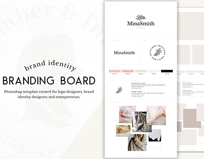 Brand Board Template for Identity Design / Download