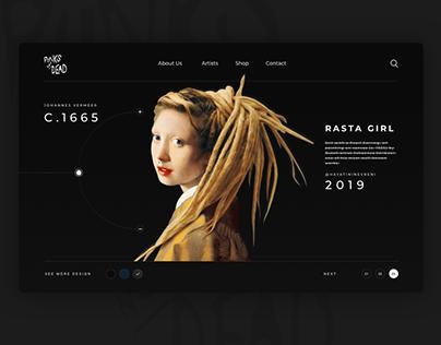 Rasta Girl Website Concept Design 🤘
