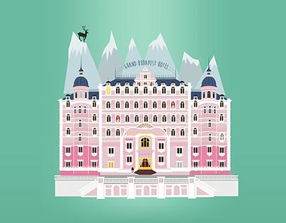 Illustration Grand Budapest Hotel
