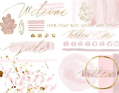 Rose quartz branding kit