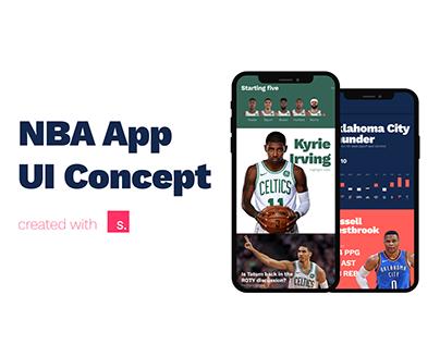 NBA App UI Concept
