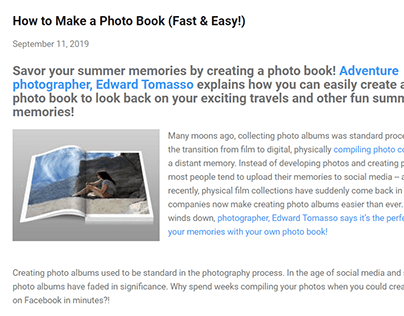 How to Make a Photo Book (blog post)