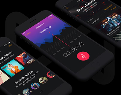 Musical Mobile UI Kit