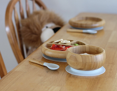 Avanchy Bamboo Suction Dish-ware