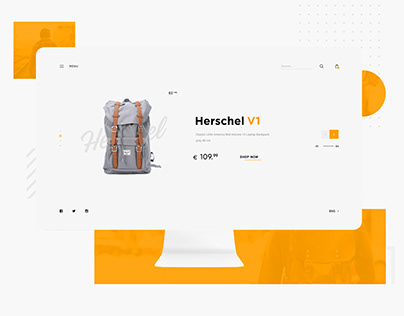 Backpacks shop design | Ui/Ux