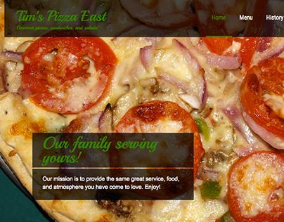 Tim's Pizza East website