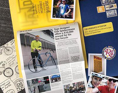 Stop Stealing My Bikes! Typeface Specimen Book