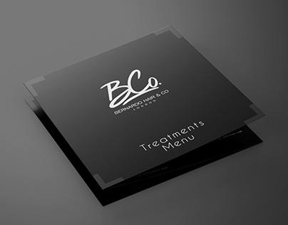 Bernardo Hair Treatment Menu - Design & Print