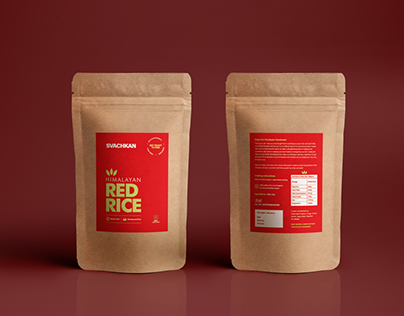 Red Rice Packaging Design - Svachkan