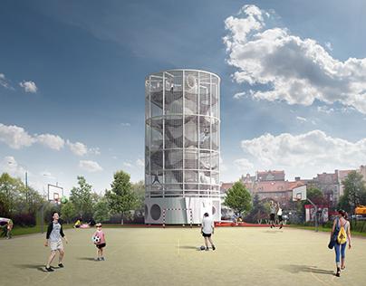 WCOŁO public toilet- projekt łazienki Koło Poznań
