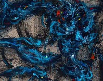 UNCOILING GENESIS - paintings