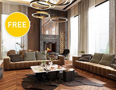 Download Free 3D Scene Villa Belek From Ferhan Akyüz