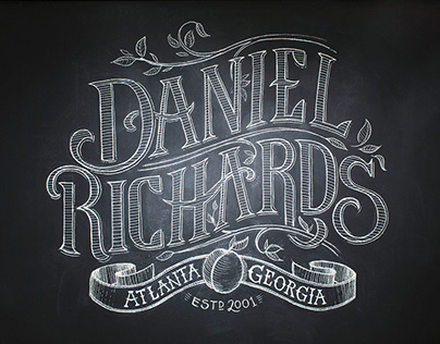 Daniel Richards Chalk Lettering