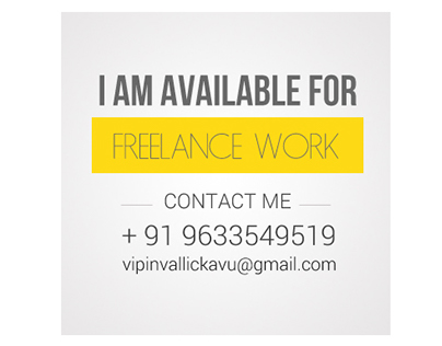 I am available for freelance work