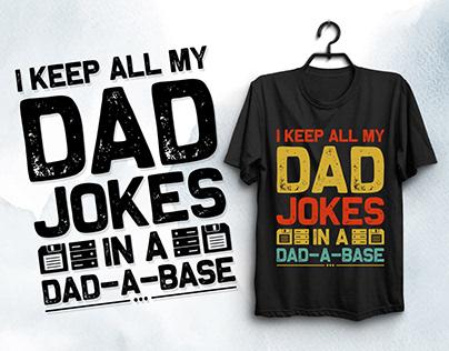 Dad Jokes T-Shirt Design