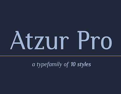 Atzur Pro semi serif typefamily