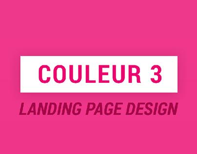 COULEUR 3 // landing page design