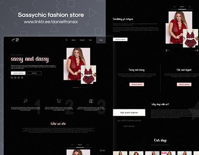 Sassychic fashion website ui/ux design project