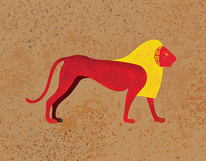 Ancient Egyptian lion