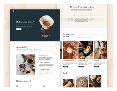 Coffee - Landing Page Design