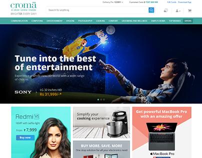 Croma website redesign