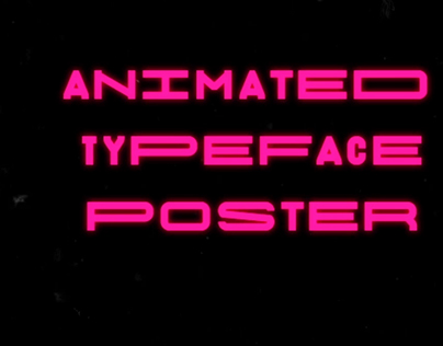 Typeface poster vol.1 - personal experiment
