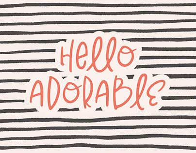 Hello Adorable | Cute & Quirky Handwritten Font