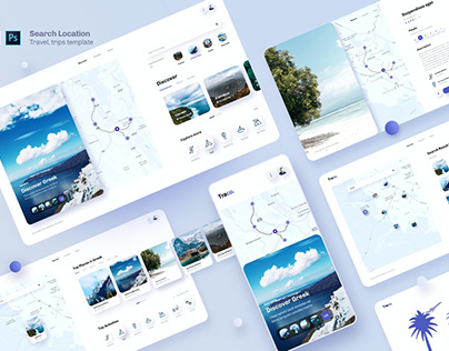 Traco - Search Location Travel UI Template