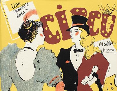 """a series of silkscreen """"circus"""""""