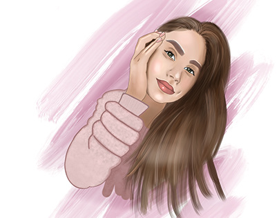 Procreate portrait «Viktoria»
