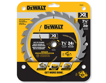 DEWALT XR Accessories Packaging & Merchandising Designs