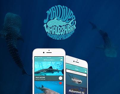 Maldives Whale Shark - iOS App Design