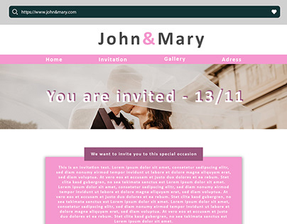 Wedding Invitation Website Mockup