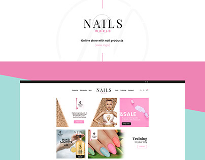 Nails World www&logo