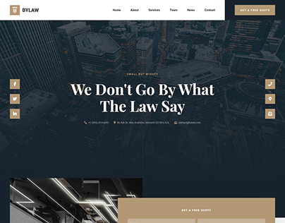 Bylaw - Law Firm Website Template
